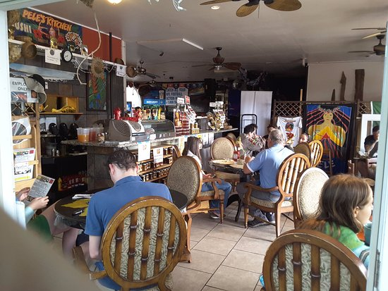 Pele's Kitchen: relaxed, local, lots of fun items to peruse.