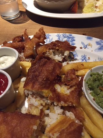 Cheshire, UK: fish and chips