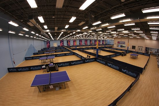 Morrisville, NC: 30,000 sq ft table tennis facility with 24,000 sq ft, professionally outfitted playing area