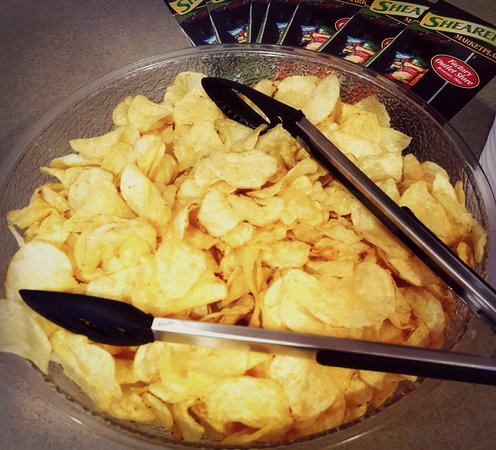 Berlin, OH: Evening Snacks from 7-9pm include Shearers Potato Chips
