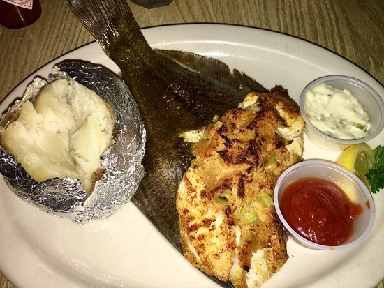 Matagorda, TX: Stuffed broiled trout