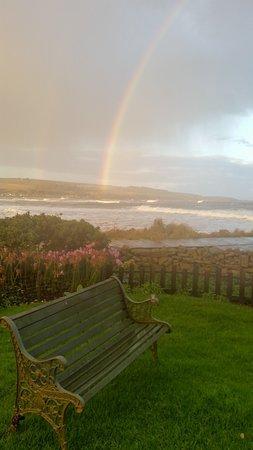 Stonehaven, UK: Double rainbow