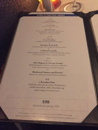 Top Of The World Menu Main Course