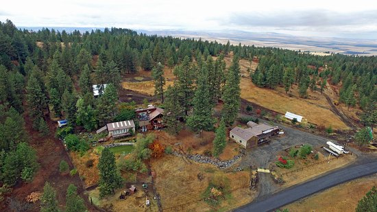 Grangeville, ID: Aerial view of property