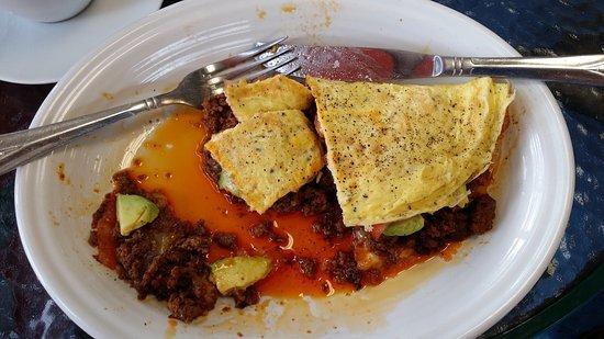 Bedford, NY: Incredibly delicious chorizo omelet