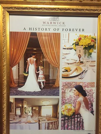 Warwick Melrose Hotel Dallas: It is a popular location for weddings, I suspect. :)