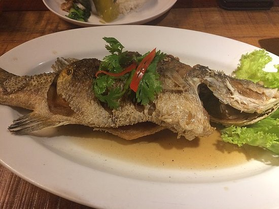 Deep fried fish sauce on the side picture of i 39 m spicy for Sides for fried fish