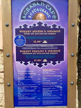 menu outline picture of restaurant agrabah cafe marne la vallee