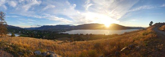 Пентиктон, Канада: Sunset view in August 2016.