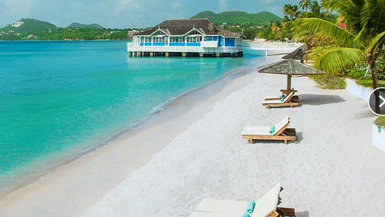 Sandals Halcyon Beach Resort: False advertising pictures