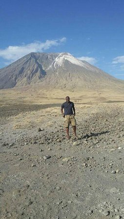 Ol Doinyo Lengai: 26th January 2017. me after biking and Climbing Oldonyo Lengai
