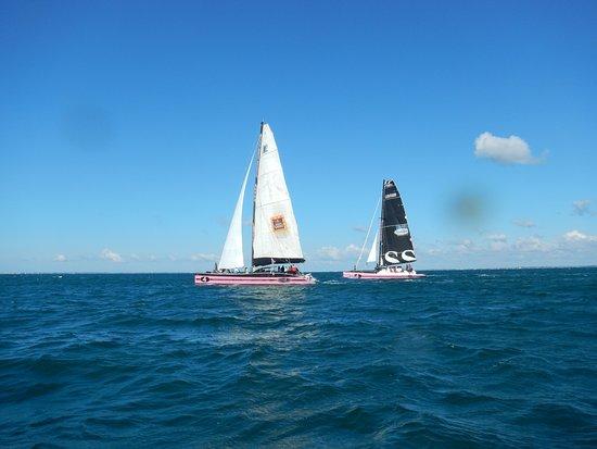 Baden, Frankrig: Les 2 catamarans en baie de Quiberon