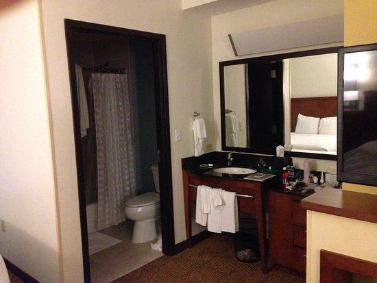 Hyatt Place West Palm Beach Downtown: Vanity And Bathroom Area