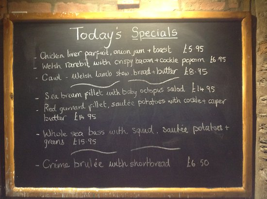Cenarth, UK: Our ever changing specials board