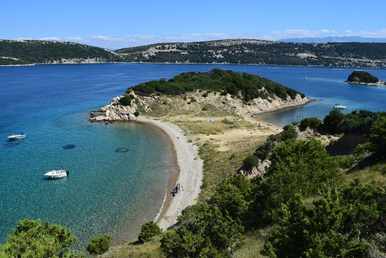 Beaches on small island Maman - Supetarska Draga, Island Rab Croatia