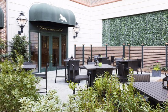 Thoroughbred Club: An extended outdoor patio