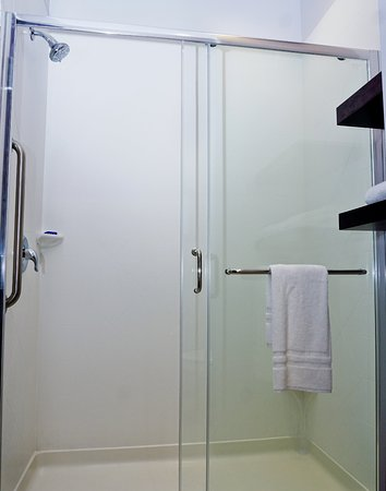 Hammondsport, Nowy Jork: Large walk-in showers are available in some of our guestrooms.