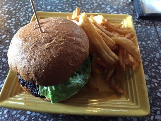 McCall, ID: Black Bean Burger was Yum!