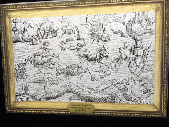 Museo Marítimo Nacional: Picture showing the monsters of the ocean