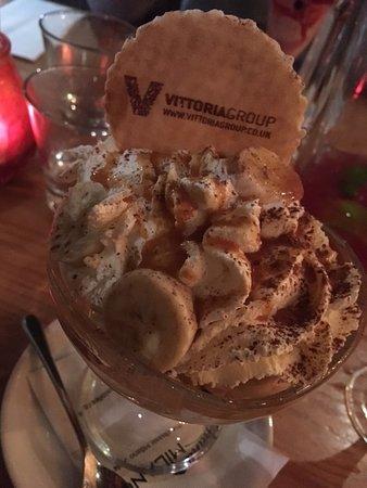 La Favorita Restaurant Leith Walk: Bannoffee Sundae
