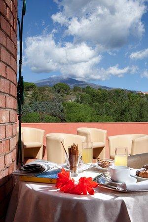 Hotel Biancaneve: Panorama Etna