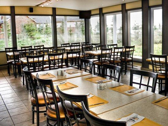 Restaurant le Montagnais: Salle de réception vue sur le fleuve