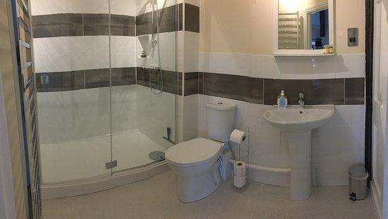Old Manor House B&B : Black & White room bathroom