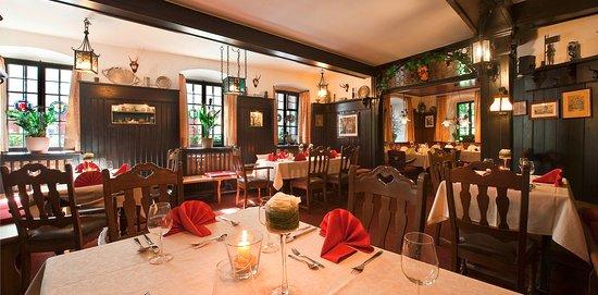 Marktbreit, Germany: Restaurant festlich eingedeckt
