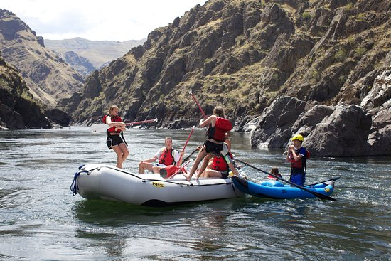 McCall, ID: River games on the Lower Salmon River four-day trip