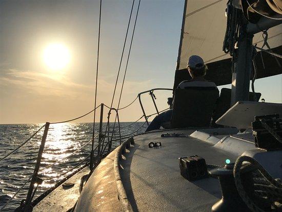 Anna Maria Sailing Adventures: Sailing into the open gulf....