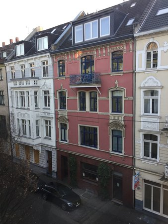 Gaestehaus Grupello: Odadan sokağın manzarası