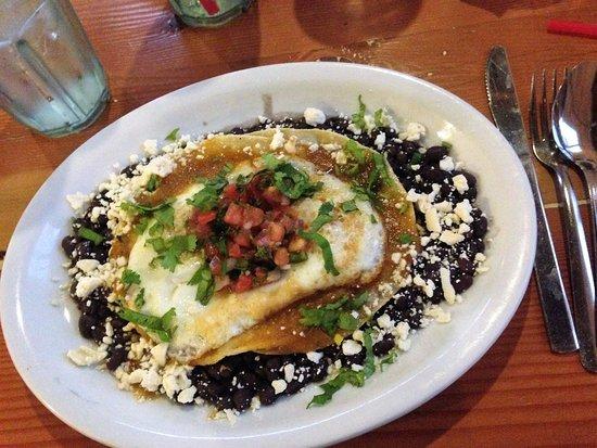 Park Cafe : huevos rancheros w/fresh jalepenos per my request--yum