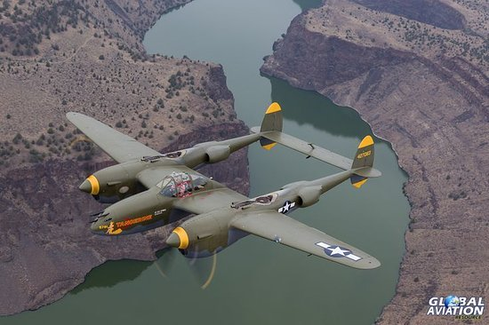 "Madras, OR: P-38 Lightning ""Tangarine"""