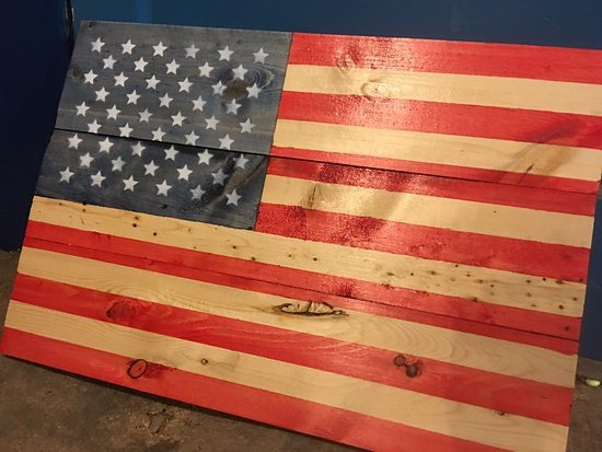Empire, CO: Custom Stained Beetle Kill  USA Sign