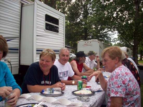Camp Faribo: Enjoy a meal with friends
