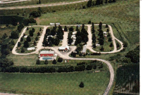 Aerial view of Camp Faribo