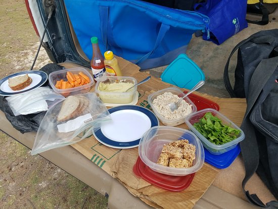 Bahamas Out Island Adventures - Day Trips: Tom's wife prepared an amazing homemade lunch. Delicious!
