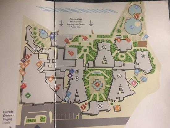 Map of resort Picture of Iberostar Anthelia Costa Adeje TripAdvisor