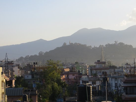 Eco Homestay: View from rooftop deck towards Monkey Temple