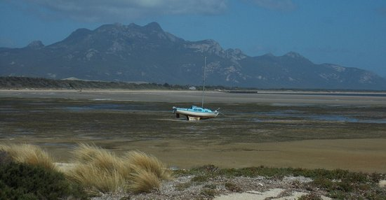 Flinders Island, Australia: down the road from the cabin park at the Bluff. Best views ever!