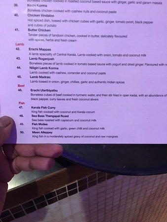 Shilpa indian restaurant london restaurantanmeldelser for Seven fishes menu