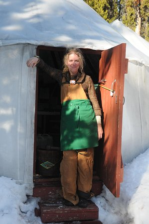 Canyon Skiers Yurt Camp cook, Connie Dover - keeps every one