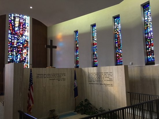 Abilene, KS: Interior Memorial Chapel. Ike and Mamie's final resting place.