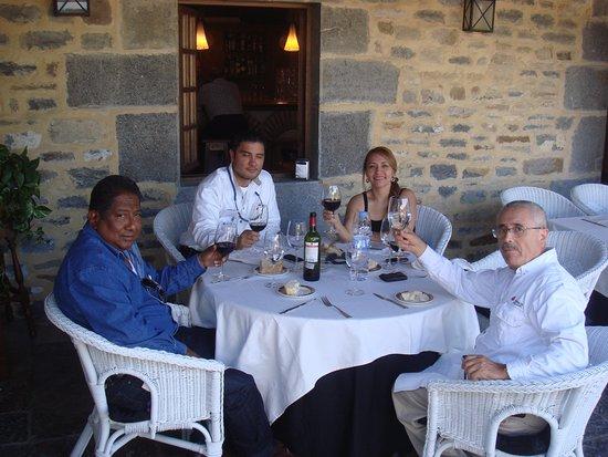 Lezama, Spanien: Comida en la terraza