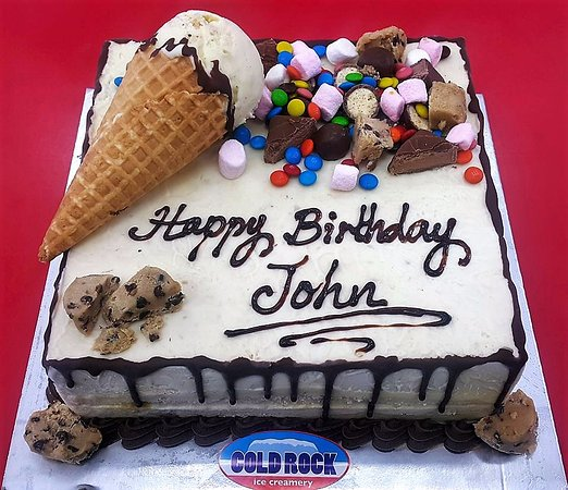 Wondrous Cold Rock Ice Cream Birthday Celebration Cake Picture Of Cold Personalised Birthday Cards Paralily Jamesorg