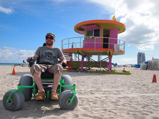 South Beach La Chaise Roulante Lectrique Fournie Gratuitement Pour Plage