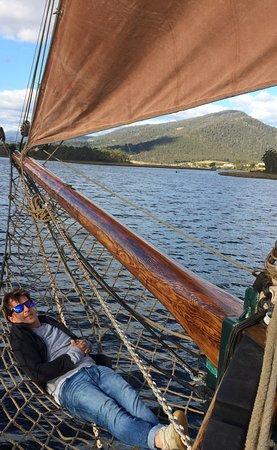 Franklin, Australia: Rens in his 'hammock'