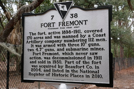 ‪‪Fort Fremont‬: Historical plaque‬