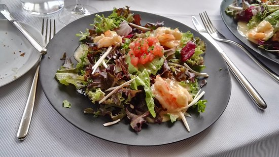 Jean Georges: Shrimp salad with avocado and champagne dressing.