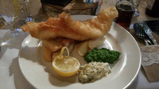 The Cross Keys: Wedding breakfast! Fish & Chips